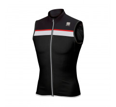 Sportful Fietsshirt mouwloos Heren Zwart Wit / SF Pista Sleeveless-Black/White/Red