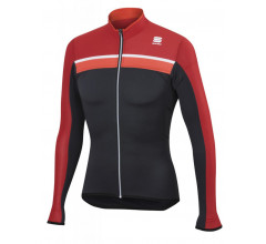 Sportful Fietsshirt lange mouwen Heren Grijs Rood / SF Pista Long Sleeve Jersey Anth/Red/Fire Red/White
