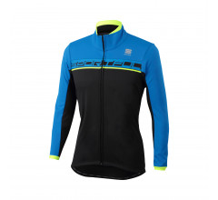 Sportful Fietsjack Heren Zwart Fluo / SF Giro Softshell Jacket-Black/Yellow Fluo/Red