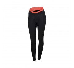 Sportful Fietsbroek lang Dames Zwart Coral / SF Luna Tight-Black/Coral Fluo