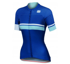 Sportful Fietsshirt korte mouwen Dames Blauw Wit / SF Diva W Jersey Blue Twil/White/Cerulean