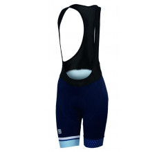 Sportful Fietsbroek Dames Blauw Wit / SF Diva W Bibshort Blue Twil/White/Cerulean