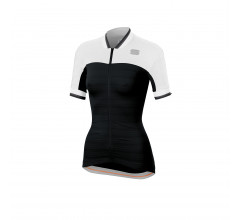 Sportful Fietsshirt korte mouwen Dames Zwart Wit / SF Grace  Jersey-Black/White