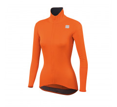 Sportful Fietsshirt lange mouwen waterafstotend Dames Oranje / Fiandre Light Norain W Top-Orange Sdr