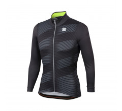Sportful Fietsshirt lange mouwen Heren Grijs Fluo / SF Moire Thermal Jersey-Anthracite/Yellow Fluo