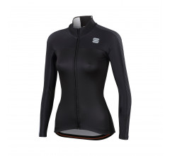 Sportful Fietsshirt lange mouwen Dames Zwart Wit / SF Bodyfit Pro W Thermal Jersey-Black/White