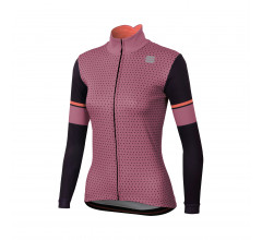 Sportful Fietsshirt lange mouwen Dames Roze Zwart / SF Cometa Thermal  Jersey-H Rose/Black/Red Fluo