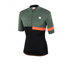 Sportful Fietsshirt korte mouwen Heren Groen Zwart / SF Giara Jersey-Green/Black/Orange