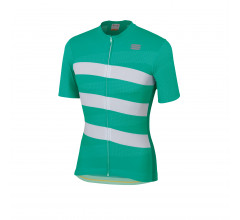 Sportful Fietsshirt korte mouwen Heren Groen Wit / SF Team 2.0 Ribbon Jersey-Bora Green/White