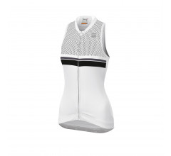 Sportful Fietsshirt mouwloos Dames Wit Zwart / SF Diva 2 Sleeveless-White/Black/Anth