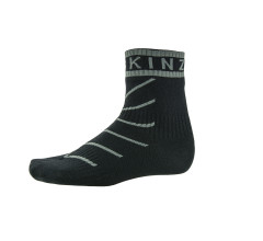 Sealskinz Fietssokken Zwart Grijs / SS Super Thin Pro Ankle sock with Hydrostop-Black/Grey