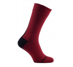 Sealskinz Road Thin Mid with Hydrostop/ Fietssok rood - zwart