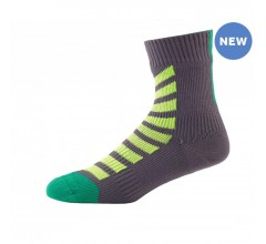 SealSkinz MTB Ankle with Hydrostop / Fietssok Antraciet Lime
