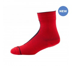 SealSkinz Road Ankle with Hydrostop / Fietssok Rood Zwart