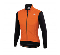 Sportful Fietsjack waterafstotend Heren Oranje Zwart / Fiandre Strato Wind Jacket-Orange Sdr/Black