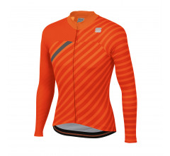 Sportful Fietsshirt lange mouwen Heren Oranje Rood Grijs / Bodyfit Team Winter Jersey-Orange Sdr/Fire Red/Anthracite