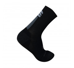 Sportful Fietssokken winter Heren Zwart Grijs / Merino Wool 18 Sock-Black/Antharcite-