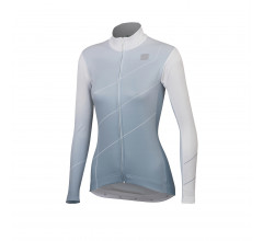 Sportful Fietsshirt lange mouwen Dames Wit Grijs / Shade Woman Long Sleeve Jersey-White/Cement