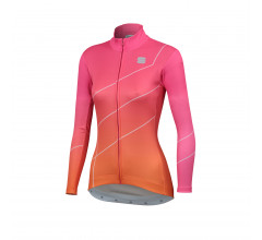 Sportful Fietsshirt lange mouwen Dames Roze Oranje / Shade Woman Long Sleeve Jersey-Bubblegum/Orange Sdr