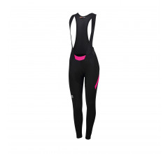 Sportful Fietsbroek lang met bretels Dames Zwart Roze / Neo W Bibtight-Black/Bubblue Gum