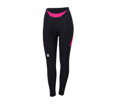 Sportful Fietsbroek lang zonder bretels Dames Zwart Roze / Neo W Tight-Black/Bubblue Gum