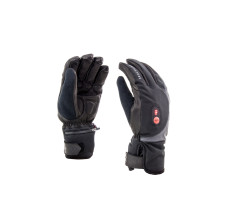 Sealskinz Fietshandschoenen Zwart Rood / SS Cold Weather Heated Cycle Glove-Black/Red