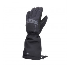 Sealskinz Fietshandschoenen waterdicht voor Heren Zwart  / Waterproof Extreme Cold Weather Reflective Gauntlet Black
