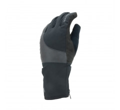 Sealskinz Fietshandschoenen waterdicht voor Heren Zwart  / Waterproof Cold Weather Reflective Cycle Glove Black