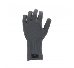 Sealskinz Fietshandschoenen waterdicht voor Heren Grijs  / Waterproof All Weather Ultra Grip Knitted Glove Grey