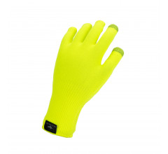 Sealskinz Fietshandschoenen waterdicht voor Heren Fluo  / Waterproof All Weather Ultra Grip Knitted Glove Neon Yellow