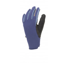 Sealskinz Fietshandschoenen Waterdicht Unisex Blauw Zwart - Waterproof All Weather Glove with Fusion Control Navy Blue Black Yellow