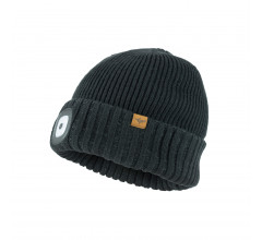 Sealskinz Casual muts waterdicht voor Heren Zwart  / Waterproof Cold Weather LED Roll Cuff Beanie Black