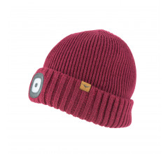 Sealskinz Casual muts waterdicht voor Heren Rood  / Waterproof Cold Weather LED Roll Cuff Beanie Red