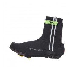 SealSkinz Neoprene Halo overshoe (with LED) / Overschoen Zwart Rood