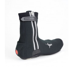 Sealskinz Overschoenen  voor Heren Zwart  / All Weather LED Cycle Overshoe Black