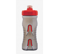 Fabric Bidon 600ML Cageless Grijs-Rood / Cageless Bottle BKR 600ml