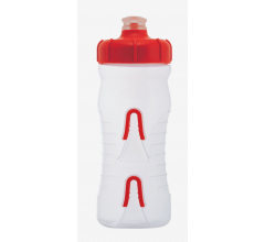 Fabric Bidon 600ML Cageless Transparant-Rood / Cageless Bottle CLR 600ml