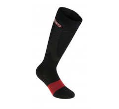 Alpinestars Compressie fietssokken Zwart Rood / AL Compression Socks-Black Red