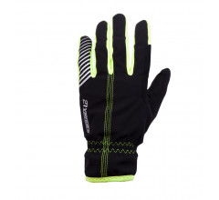 Fietshandschoenen 21Virages winter wind- en waterproof Zwart Fluo