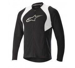 Alpinestars MTB shirt lange mouwen Heren Zwart Wit / AL Drop 2 Full Zip L/S Jersey-Black White