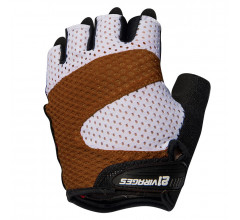 21Virages fietshandschoenen zomer unisex Bruin Wit / Summer cycling glove Airflow Brown white