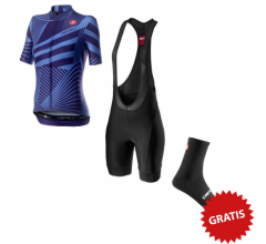 Castelli Fietskledingset Zomer voor Dames Sublime Paars