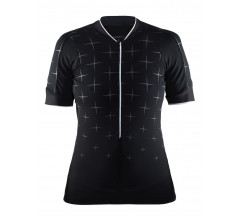 Craft Belle Glow jersey W / Fietsshirt Dames Zwart Wit