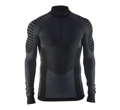 Craft Ondershirt Heren Zwart Grijs / ACTIVE INTENSITY ZIP M BLACK/GRANITE