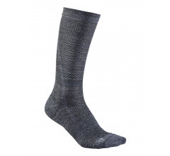 Craft Fietssokken Winter Unisex Grijs  / WARM MID SOCK GRANITE/PLATINUM