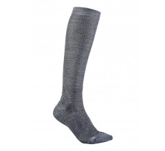 Craft Fietssokken Winter Unisex Grijs  / WARM HIGH SOCK GRANITE/PLATINUM