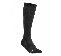 Craft Fietssokken Winter Unisex Zwart Wit / WARM HIGH SOCK BLACK/WHITE