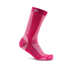 Craft 2 paar fietssokken Winter Unisex Roze  / WARM MID 2-PACK SOCK FANTASY/ZEN