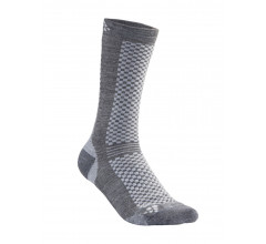 Craft 2 paar fietssokken Winter Unisex Grijs  / WARM MID 2-PACK SOCK GRANITE/PLATINUM