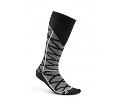 Craft Fietssokken Winter Unisex Zwart Wit / COMPRESSION PATTERN SOCK BLACK/WHITE